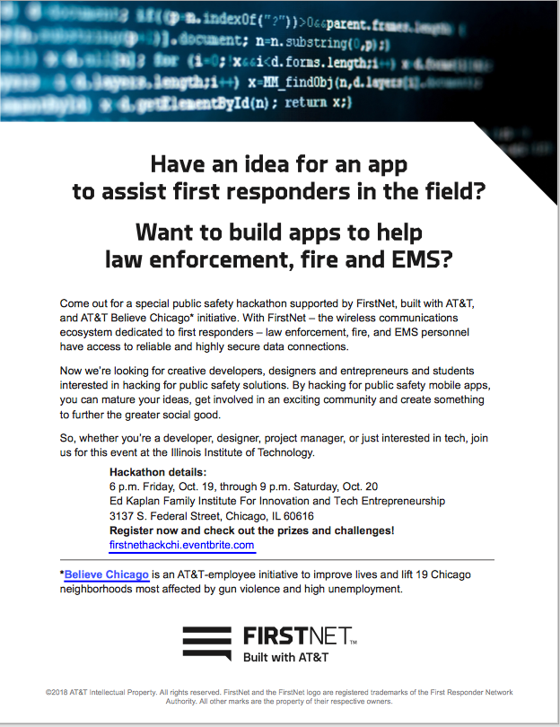 Have An Idea For An App To Assist First Responders In The Field All Things Firstnet